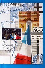 CHARLES DE GAULLE   FRANCE  CPA Carte Postale Maximum  Yt 2114 C