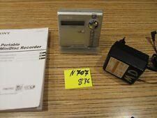 Sony MD N707 USB Recorder für AA Batt. , Ständer +  Minidisc + AL   (836)