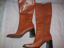 CONNIE CHESTNUT LEATHER KNEE HIGH BOOTS, SZ 6M, EXCELLENT,