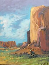 "Original Western Cowboy Painting By Barry Euren A.I.F.A 11""x14"""