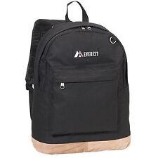 Everest Luggage Suede Bottom Backpack - Black