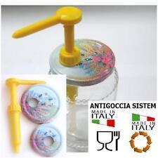 KIT Dispenser Miele Dosatore con 2 Capsule Adattabili per vaso miele 1 - 1/2 kg