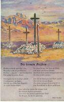 uralte AK Deutsche Soldatengräber in Südwestafrika Gedicht Feldpost 1915 //09