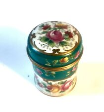 Curieux Pot Couvert Avec Rebord Porcelaine De  Paris XIXe Signé