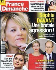 France dimanche n° 3704 du 25/08/2017 Sophie Davant Louane Herbert Léonard