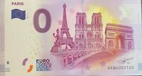 BILLET 0  EURO PARIS 3 MONUMENTS NOTRE DAME  AU CENTRE  FRANCE 2017 NUMERO 100