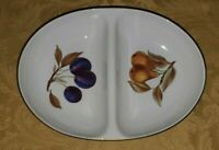 Royal Worcester EVESHAM 1961 FRUIT PORCELAIN SLOTTED SERVING BOWL DISH 11 1/4""
