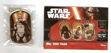 2016 Topps STAR WARS The Force Awakens GOLD Dog Tag CAPTAIN PHASMA  (Rare!)
