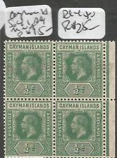 Cayman Islands SG 41 Block of 4 MNH (1chy)