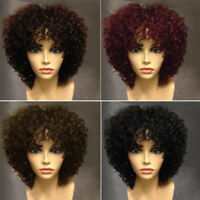 4 Color Short Afro Curly Hair Women's Side Bang Orgshine Synthetic Hair Wig Hot