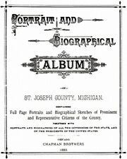 1889 Genealogy Biography & History of St Joseph County Michigan MI