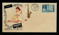 1950 Buescher Top Hat & Cane & Pin-Up Featured on Collector's Envelope *OP459