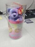 NEW Ty Beanie Baby Bear Clubby IV SEALED w/ Mystery button