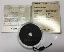 COMETE Diamante naturale ct. 0,30 in blister con certificato