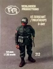 VERLINDEN 1:35 54 MM US SERGEANT PARATROOPS D-DAY SERGENTE AMERICANO ART 212