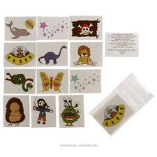 3 x Kinder Tattoo Set A mit je 12 verschiedenen Tattoos - 36 Kinder Tattoos