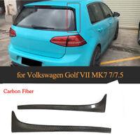 für VW Vertikale Heckspoiler Flap Golf 7 VII Carbon Seiten Heck Spoiler Flügel
