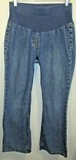 Motherhood Stretch Maternity Denim Blue Jeans Size PS Small Petite Misses EUC