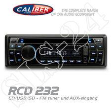 Caliber RCD232 Autoradio 1-DIN Radio CD USB SD AUX-IN AM/FM MP3 Tuner blau/weiß