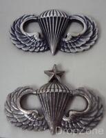 New US Army Military Parachutist Para Lapel Dress Badge Basic or Senior