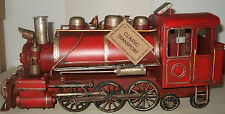 Train Tin Plate Model of a Classic Transport /Hand Painted/ Red/Ornament /Gift