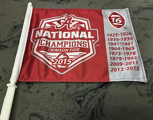 University of Alabama 2015 National Championship Car Flag