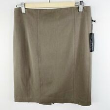 Express Pencil Skirt High Waist Studio Stretch Taupe Gray Size 8 New NWT