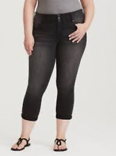 5cbe33a1d58e4 Torrid Black Wash Crop Jegging Dead of Night 2x 18  27930