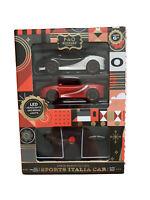 FAO SCHWARZ Sports Italia Car Set 2 Pack Remote Controls Cars 80MPH Scaled Speed
