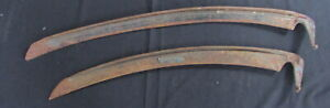 "TWO VINTAGE SCYTHES BLADES - ONE 25"" BANKOLIAR SWEDISH - OTHER 30"""