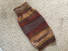 Hand Knitted Dog Jumper. Medium/Large Size Dog. Shades Of Brown. Autumn. 17'