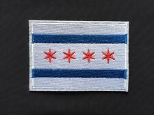 "3.5"" City of CHICAGO, ILLINOIS Iron-on Flag PATCH! CUBS PRIDE! CM PUNK"