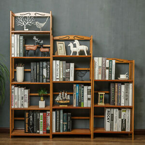 Bookshelf Bookcase Rack Storage Shelf Bamboo Stand Display Organizer