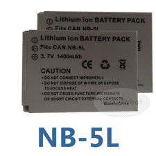 2X Battery for NB-5L Canon PowerShot S110 SX230 SX220 HS SX210 SX200 IS NB5L