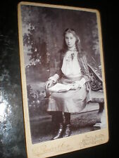 Cdv old photograph girl Mary Bateman by Bowen Haverfordwest c1890s  Ref 509(14)