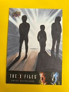 D50100 2019 Upper Deck X-Files: UFOs and Aliens Sketch Card 1/1