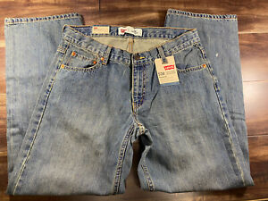 Levi's 550 Boys Jeans Relaxed Tapered Leg Adjustable Waist 12 Husky 32 X 27