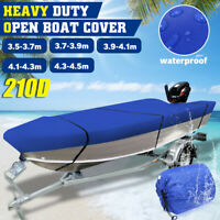 Heavy Duty Open Trailerable Runabout Boat Cover 3.5m - 4.5m Length Waterproof