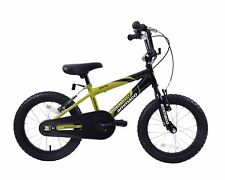 "Ammaco Rocky 16"" Wheel Boys BMX Bike Green & Black Age 5+"