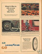 1964 Goodyear Tufsyn & Wingfoot 175 Bicycle LARGE Print Ad Just Like Dad's