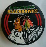 CHICAGO BLACKHAWKS NHL INGLASCO OFFICIAL HOCKEY PUCK SHADOW LOGO MADE- SLOVAKIA