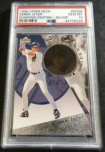 1996 DEREK JETER UPPER DECK DIAMOND DESTINY SILVER #DD28 PSA 10 POP 7