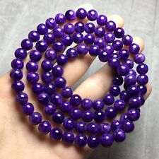 7mm Top Quality Natural Purple Charoite Crystal Round Beads Bracelet AAAA