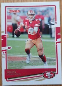 Panini Football NFL Donruss 2020 Card No 10 Jimmy Garoppolo