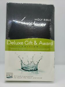 Common English Holy Bible Deluxe Gift & Award Red Leather 2 Color Maps Black Cvr