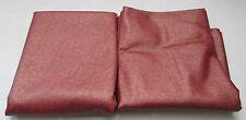 Lot of 2 Arc Com Upholstery Fabric Vinyl Material Red Orange Gold Black