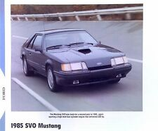 1985 Ford Mustang SVO Turbo Info/specs/photo/prices production numbers 11x8