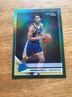 Jordan Poole Rookie Card - GREEN: 2019-20 Panini Donruss Basketball