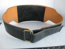 Men's unbranded Motorcycle Belt XL black leather Kidney / Back Support