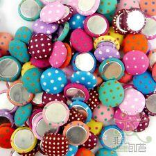 10/50/200/500pcs mixed round dots cloth button 15MM craft sewing Scrapbook DIY